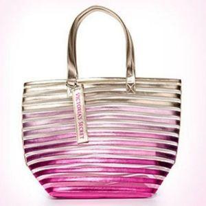 NWT Victoria's Secret Pink Ombre Mesh Tote Bag